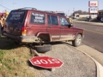 Assessor's office vehicle crashes on election day